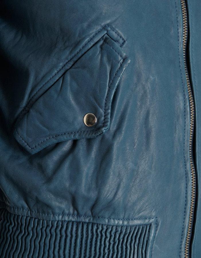 Isabel Marant Calista Washed Lambskin Cropped Jacket