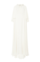 Elie Saab Double Crepe Georgette Long Dress