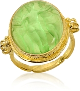 Tagliamonte Three Graces - 18K Gold Green Mother of Pearl Cameo Ring