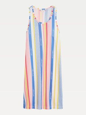 Tommy Hilfiger Stripe Polka Dot Print Tank Dress