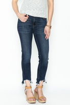 just black Cropped Straight Jeans