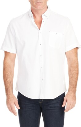 Johnny Bigg Rodney Textured Short Sleeve Button-Down Shirt