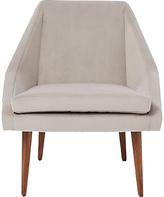 west elm Parker Velvet Armchair, Dove Grey