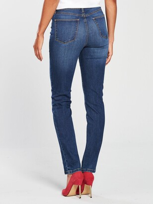 Very Tall Isabelle High Rise Slim Leg Jeans - Mid Wash