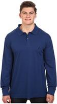 Nautica Big & Tall Long Sleeve Interlock Polo Shirt