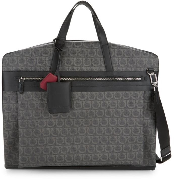 Salvatore Ferragamo Travel Gancini Print Garment Bag