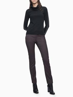 Calvin Klein Modern Essentials Wine Plaid Stretch Pants