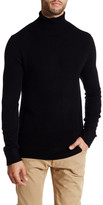Kenneth Cole New York Wool Blend Turtleneck Waffle Sweater