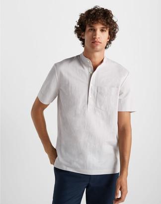 Club Monaco Short Sleeve Knit Popover