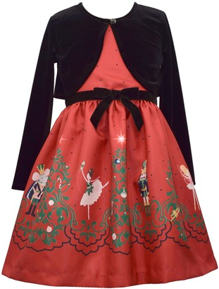 Bonnie Jean Girls 4-6x Nutcracker Dress & Cardigan Set