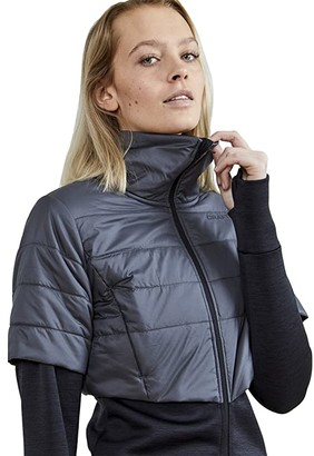 Craft ADV Warm Padded Jacket (Black/Asphalt) Women's Clothing
