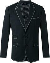Dolce & Gabbana contrast lined suit jacket