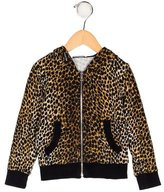 Dolce & Gabbana Girls' Cheetah Print Hooded Jacket