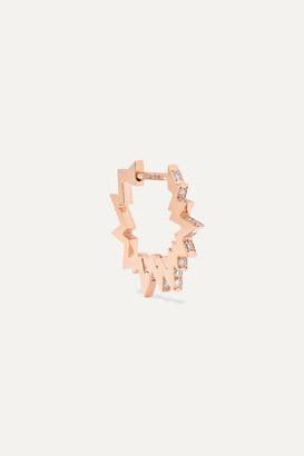 Diane Kordas Pop Art 18-karat Rose Gold Diamond Earring - one size