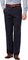 Haggar Cool 18 Birdseye Pants, Classic Fit, Flat Front, Hidden Expandable Waistband