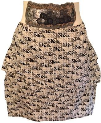 Yigal Azrouel Ecru Cotton Skirt for Women