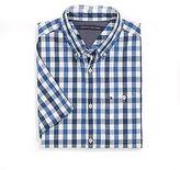 Tommy Hilfiger Short Sleeve Custom Fit Plaid Shirt
