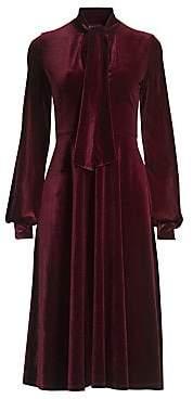 Black Halo Women's Ruby Velvet A-Line Dress