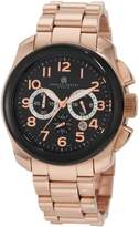 Rosegold Charles Hubert Charles-Hubert, Paris Men's 3827-M Premium Collection Rose-Gold Stainless Steel Chronograph Watch