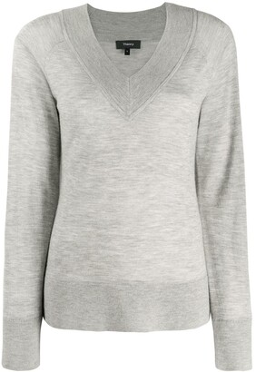 Theory V-Neck Knitted Jumper