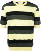 Marni striped short sleeve jumper - men - Cotton - 46