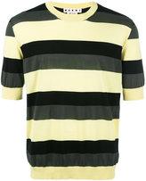 Marni striped short sleeve jumper - men - Cotton - 50