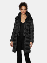 Thumbnail for your product : Dawn Levy Charlie Gem Fitted Midlength Puffer Coat with Attached Bib Warmer