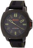 HUGO BOSS Men's Sao Paulo Silicone Strap Watch