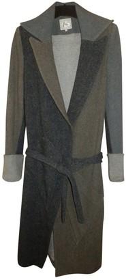 Preen Grey Wool Coats