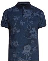 Etro Floral-print Cotton-piqué Polo Shirt