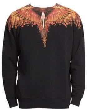 Marcelo Burlon County of Milan Flame Wing Cotton Sweatshirt