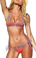 Anvoro Women's Bikini national wind printing totem design swimsuit 2 Piece