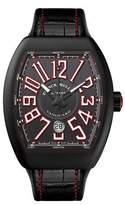 Franck Muller Vanguard Watch with Alligator Strap, Black/Red