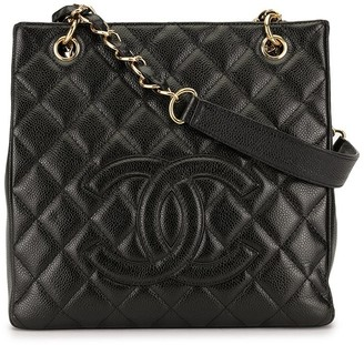Chanel Pre Owned quilted CC tote