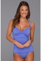Tommy Bahama Pearl Solids OTS Front Wrapped Cup One-Piece (Periwinkle) - Apparel