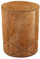 Massoud Furniture Olson Ottoman - Cognac Leather