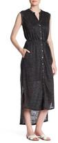 H By Bordeaux Linen Maxi Shirt Dress