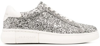 Kate Spade Silver Glitter Trainers