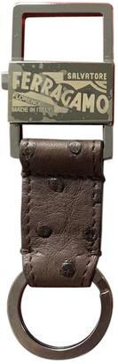 Salvatore Ferragamo Brown Leather Bag charms