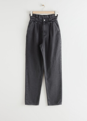 And other stories Tapered High Waist Paperbag Jeans