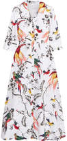 Erdem Kaisa Printed Cotton-poplin Midi Dress - White