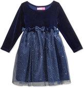 Good Lad Glitter-Skirt Dress, Little Girls (2-6X)