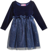 Good Lad Glitter-Skirt Dress, Little Girls (4-6X)