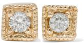 Jennie Kwon Designs Mini Square 14-karat Gold Diamond Earrings