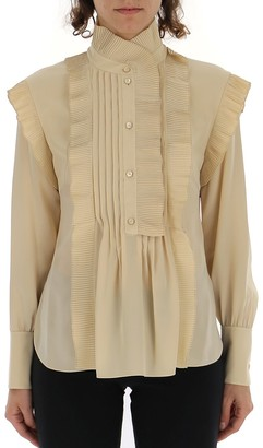 Chloé Long Sleeves Ruffled Detail Blouse