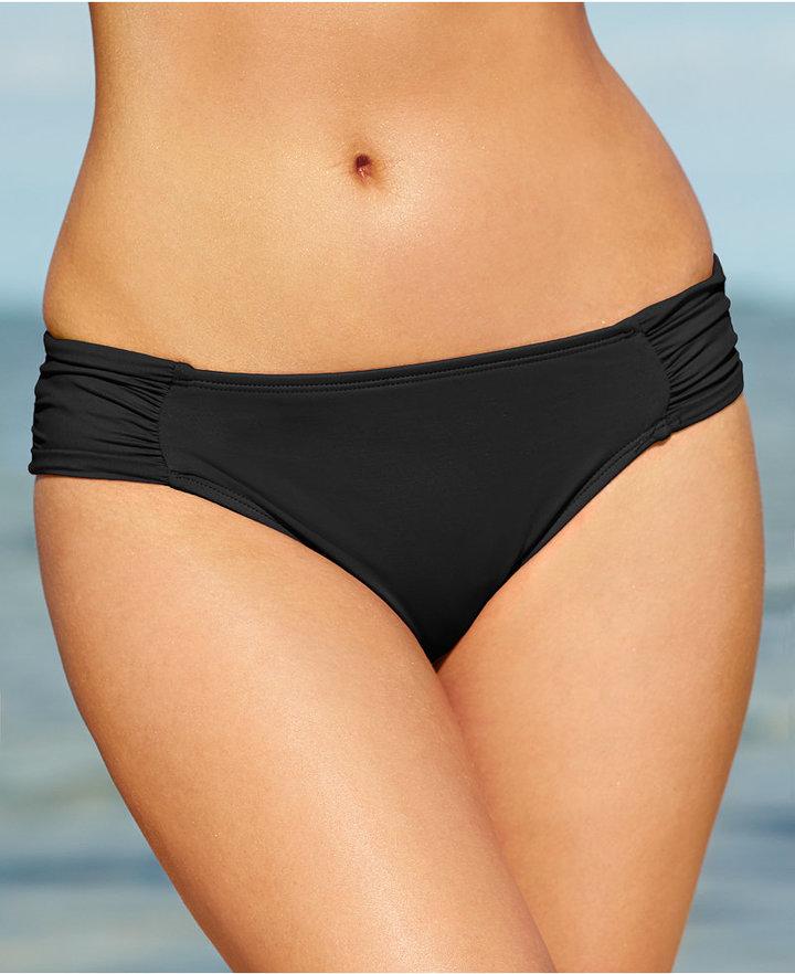 LaBlanca La Blanca Ruched Side-Tab Bikini Bottoms