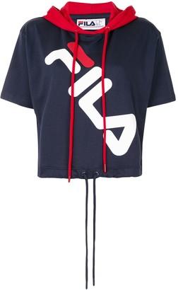 Fila Logo-Print Short-Sleeve Hoodie