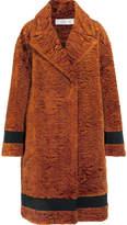 Victoria, Victoria Beckham - Grosgrain-trimmed Textured-velvet Coat - Orange