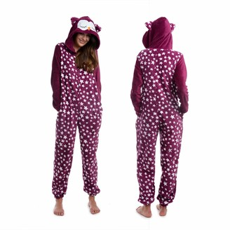 Body Candy Women's Animal Hooded Cute Printed Hoodie Plush Onesie Critters