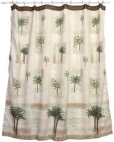 Bacova Guild Citrus Palm Fabric Shower Curtain, Beige/Green